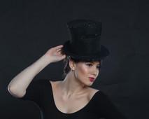Neoprene and Swarovski Top Hat