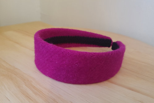Cerise Harris Tweed Hairband