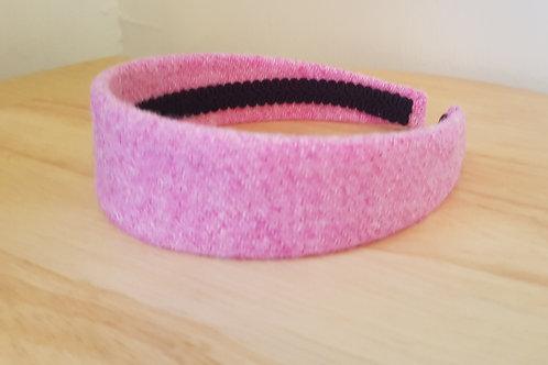 Baby Pink Harris Tweed Hairband