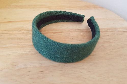 Green Harris Tweed Hairband