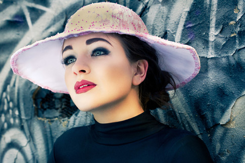 Pink Lace and Pink Beaded Hat