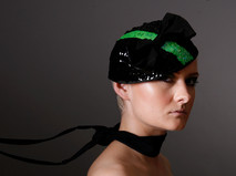 Black and Green Sequinned Hat