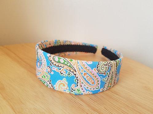 Sky Blue Paisley Pattern Hairband