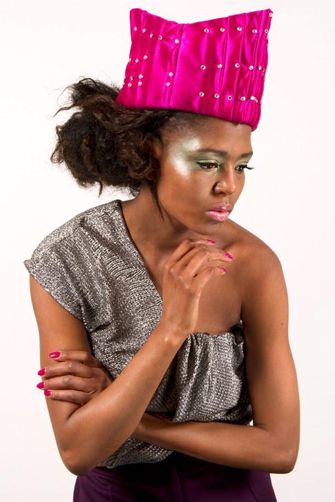 Hot Pink Satin Crown