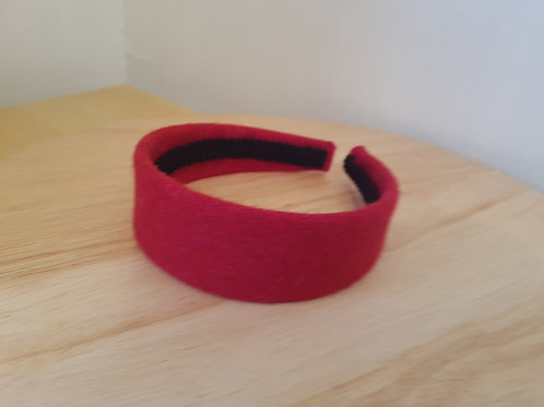 Red Harris Tweed Hairband