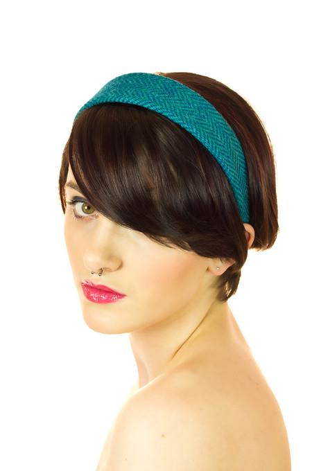 Green and Blue Herringbone