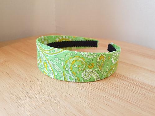 Green Paisley Pattern Hairband