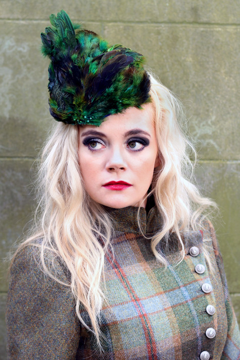 Green Pheasant Feather Hat