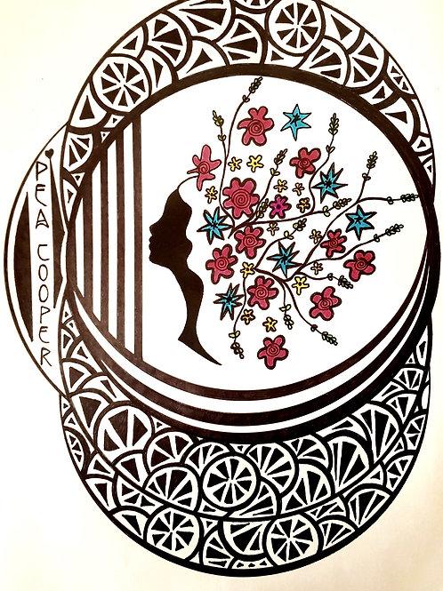 'Margaret' Art Nouveau Illustration