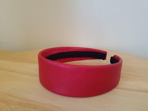 Red Leather Hairband