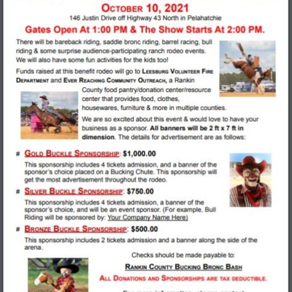 6th Annual Rankin County Bucking Bronc Bash