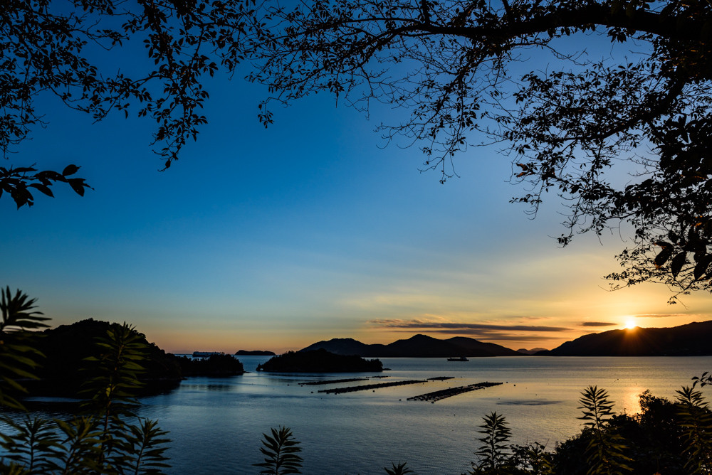 笠戸島からの日没 / sunset view from Kasado island