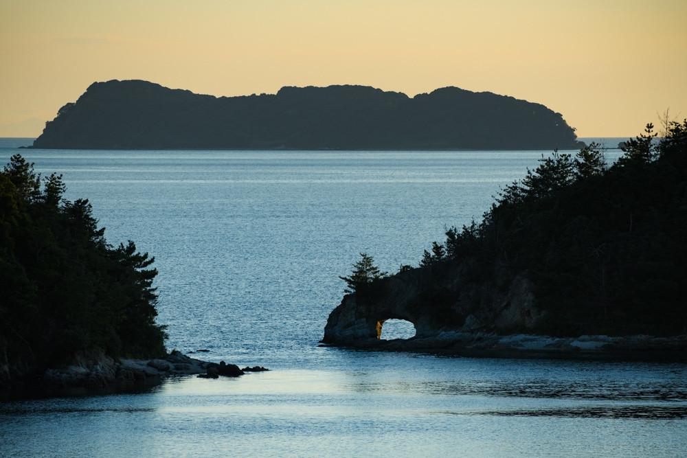 笠戸島からの夕景 / evening view from Kasado island