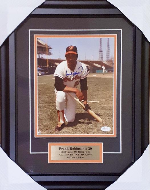 Robinson, Frank Autographed Orioles 8x10 Photo Framed