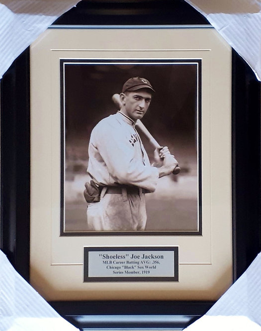 Jackson, Shoeless Joe White Sox 8x10 Photo Framed