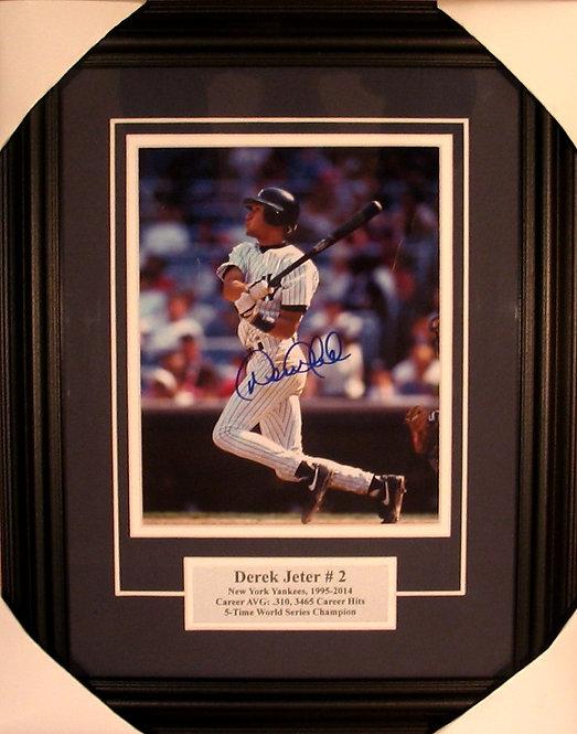 Jeter, Derek Autographed Yankees 8x10 Photo Framed