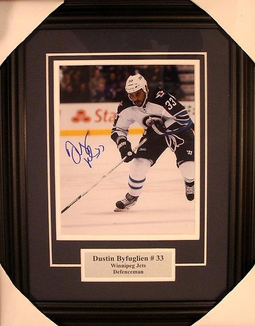 Byfuglien, Dustin Autographed Jets 8x10 Framed
