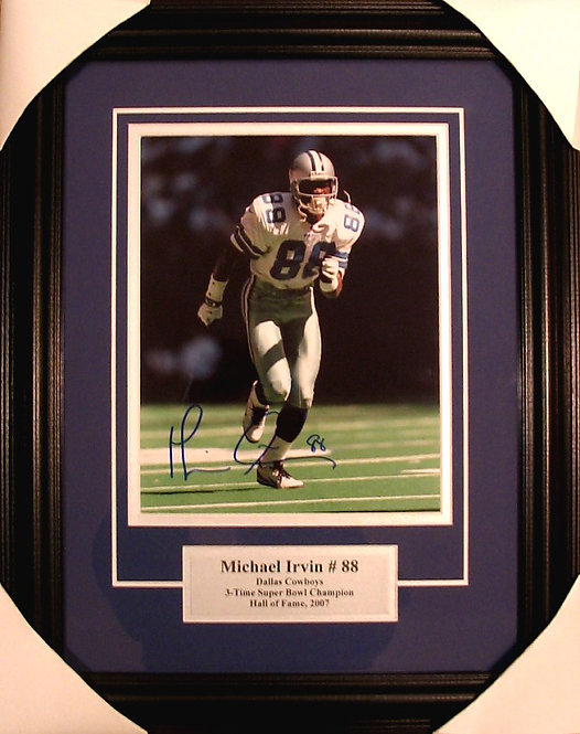 Irvin, Michael Autographed Cowboys 8x10 Photo Framed