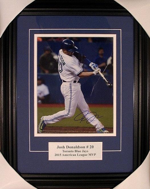 """Donaldson, Josh Autographed Blue Jays """"White"""" 8x10 Photo Framed"""
