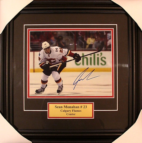Monahan, Sean Autographed Flames 8x10 Photo Framed