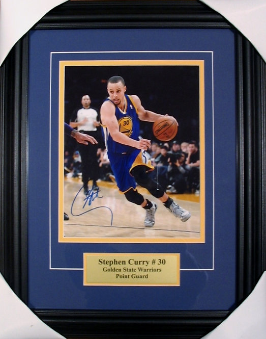 Curry, Steph Autographed Warriors 8x10 Photo Framed