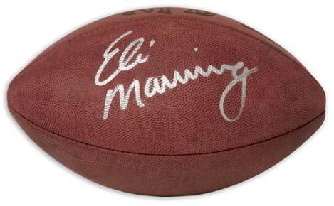 Manning, Eli Autographed NFL Wilson Football