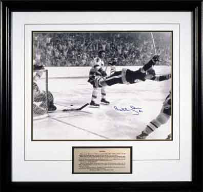 "Orr, Bobby Autographed ""The Goal"" Bruins 16x20 Framed"