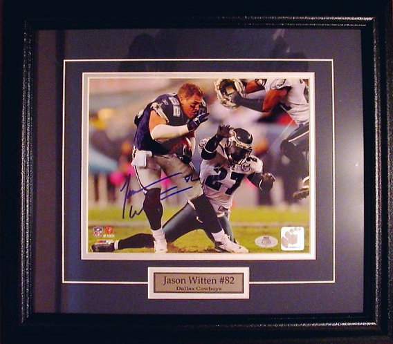 "Witten, Jason Autographed ""No Helmet"" Cowboys 8x10 Photo Framed"