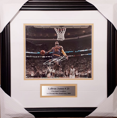 James, LeBron Autographed Cavaliers 8x10 Photo Framed