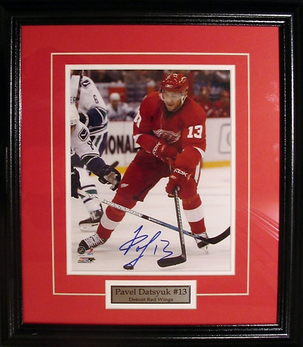 Datsyuk, Pavel Autographed Red Wings 8x10 Framed