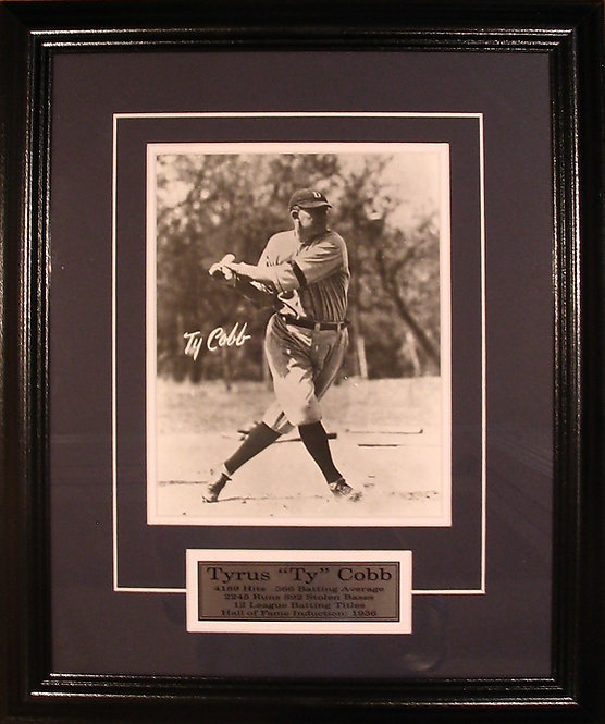 Cobb, Ty Tigers 8x10 Photo Framed