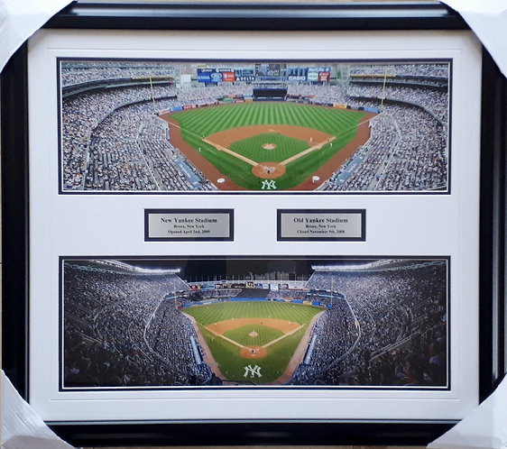 Yankee Stadium New & Old Panoramic Photos Framed