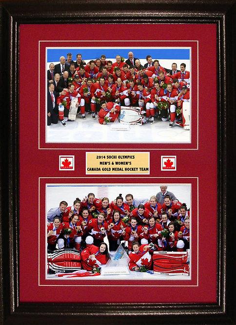 Team Canada 2014 Men & Women's Olympic 8x12's Framed