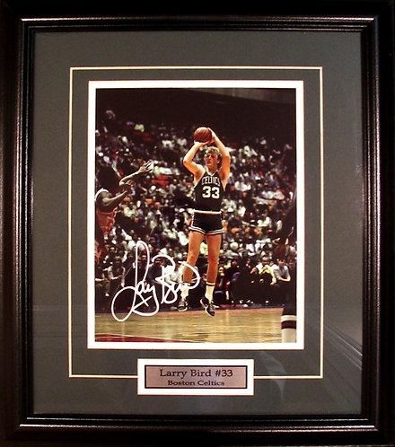 Bird, Larry Autographed Celtics 8x10 Photo Framed