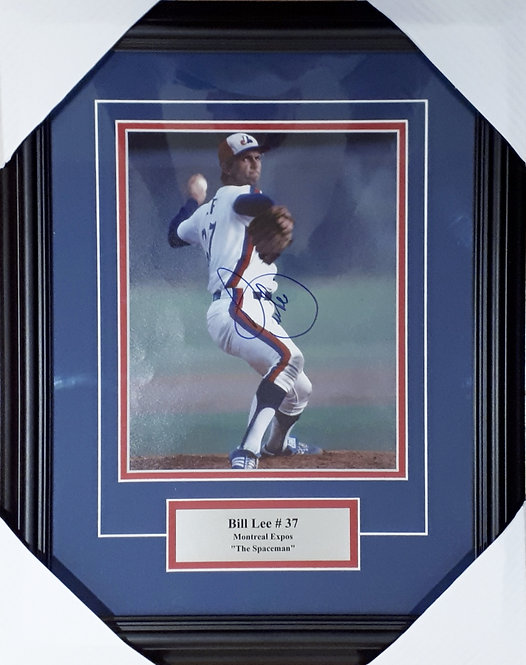 Lee, Bill Autographed Expos 8x10 Photo Framed