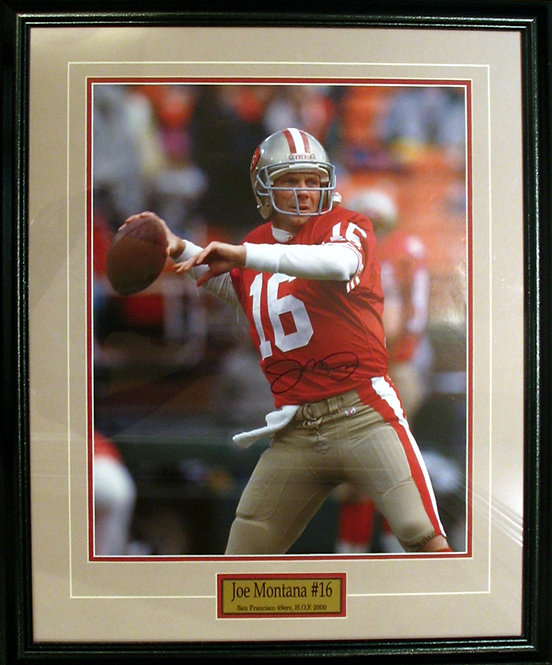 Montana, Joe Autographed 49ers 8x10 Photo Framed