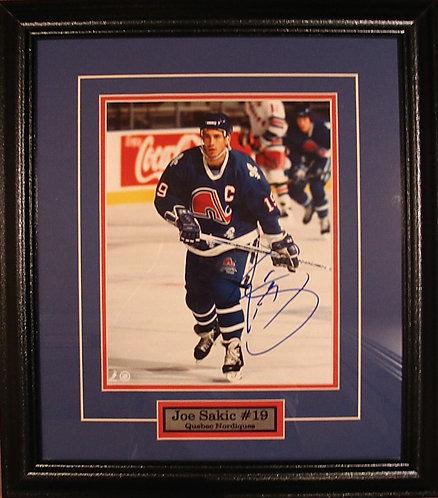 Sakic, Joe Autographed Nordiques 8x10 Photo Framed