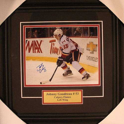 Gaudreau, Johnny Autographed Flames 8x10 Framed