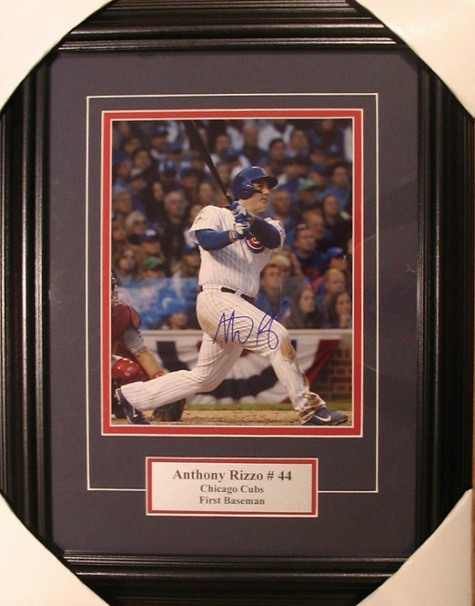 Rizzo, Anthony Autographed Cubs 8x10 Photo Framed