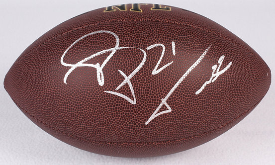 Peterson, Patrick Autographed NFL Wilson Football