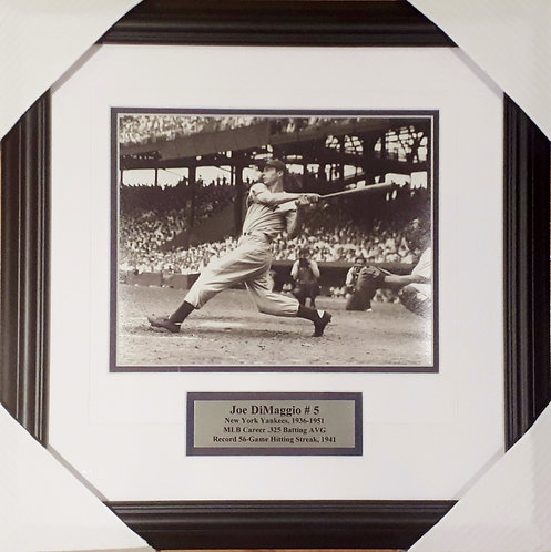 "DiMaggio, Joe Yankees ""Hit Streak"" 8x10 Photo Framed"