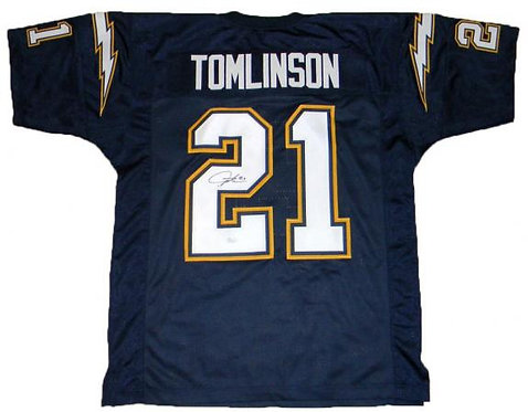 Tomlinson, LaDainian Autographed Chargers Jersey