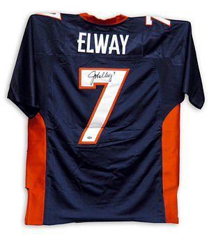 Elway, John Autographed Broncos Jersey