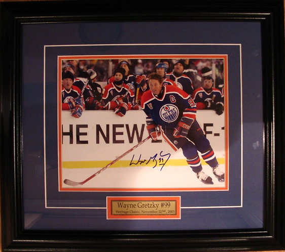 Gretzky, Wayne Autographed Heritage Classic 8x10 Framed