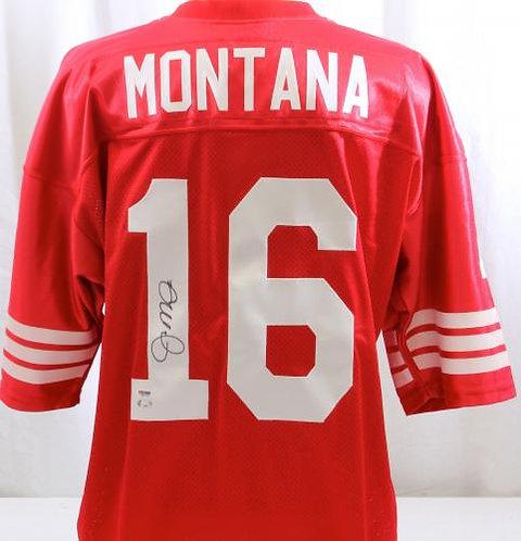 Montana, Joe Autographed 49ers Jersey