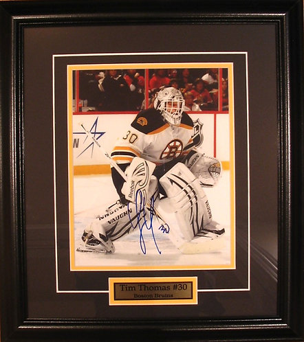 Thomas, Tim Autographed Bruins 8x10 Photo Framed