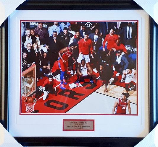 "Leonard, Kawhi ""The Shot"" Raptors 16x20 Framed"