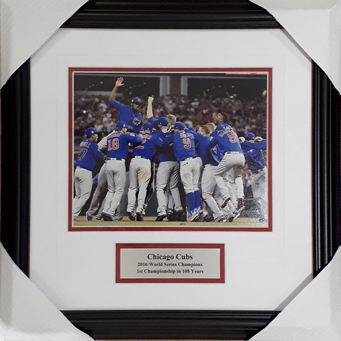 Chicago Cubs 2016 World Series 8x10 Photo Framed