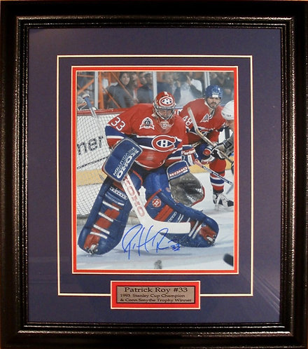 Roy, Patrick Autographed Canadiens 8x10 Photo Framed