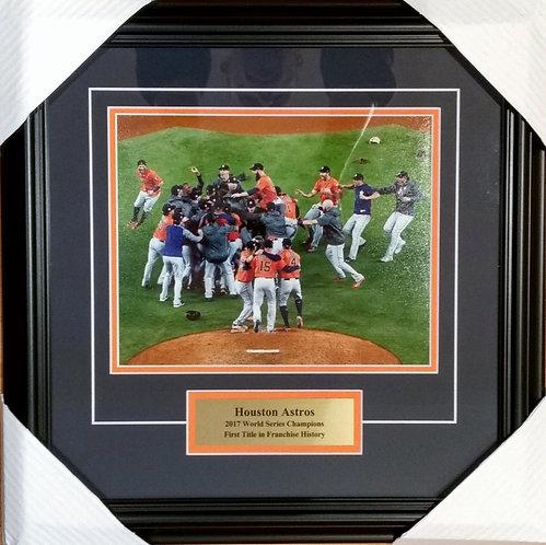 Houston Astros 2017 World Series 8x10 Photo Framed